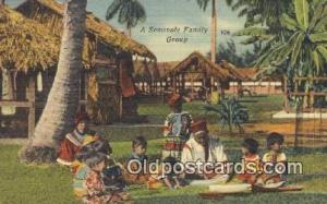 Seminole Family Group Indian Postcard, Post Card  Seminole Family Group