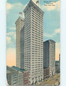 Divided-Back ADAMS BUILDING ON BROADWAY New York City NY ho2684