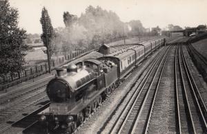 LNWR 4-6-0 Class Locomotive Vintage Train Photo