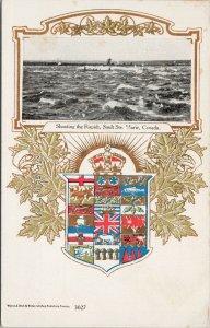 Showing the Rapids Sault Ste Marie Ontario Patriotic Canada Unused Postcard F53