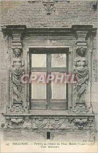 Postcard Old Toulouse Window of the Hotel du Vieux Raisin (1540 1557) Inner C...