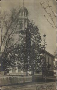 Eastport ME Unitarian Church c1910 Real Photo Postcard
