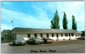 PEMBROKE, ONTARIO  Canada   Roadside SLEEPY HAVEN MOTEL  ca 1970s   Postcard