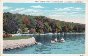 Wisconsin Lake Geneva Scene Along The West Shore