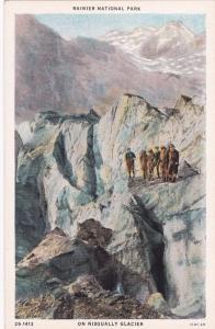 WASHINGTON, 10-20s; Rainier National Park on Nisqually Glacier