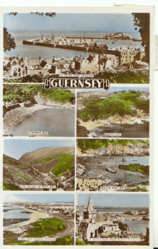 Channel Islands Postcard - Views of Guernsey - Real Photograph - Ref 19303A