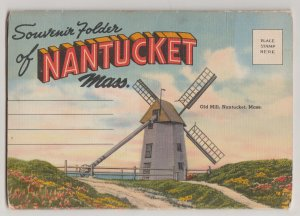 Nantucket, Massachusetts Linen Souvenir Folder 18 Views