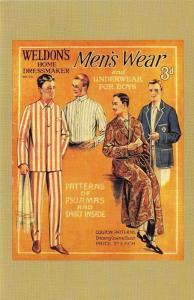 Postcard Nostalgia 1920's Mens Fashion Weldons Home Dressmaker Reproduction Card