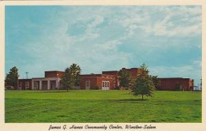 Exterior, James G. Hanes Community Center,  Winston-Salem,   North Carolina, ...
