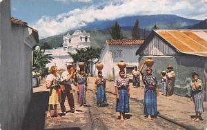 Guatemala, Central America, Republica de Guatemala Guatemalan Women carrying ...