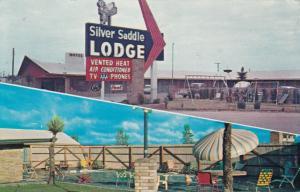 FORT STOCKTON , Texas , 1960s ;  Silver Sadle Lodge, 2-views