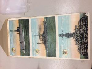 U.S. Navy commissioned ships colored views booklet antique pc Z50062