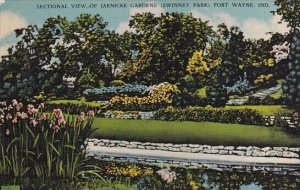 Sectional View Of Jaenicke Gardens Fort Wayne Indiana 1944