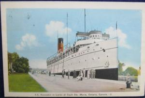 SS Keewatin In Locks Sault Ste Marie Ontario 1943