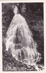 Oregon Columbie River Highway C W 58 Fairy Falls Real Photo
