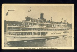 New York City, New York/NY Postcard, Steamer Peter Stuyvesant On Hudson River