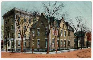 1910 Scranton PA The State Hospital Building Lackawanna County RARE DB Postcard