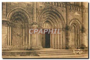 Old Postcard Aunis and Saintonge Facade of the Romanesque church of Pont l'Ab...
