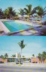 Florida West Palm Beach Lake Shore Court With Pool 1965