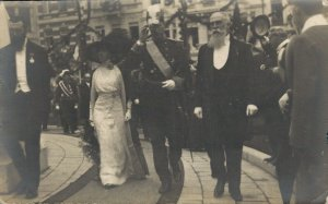 King Albert I Visits Antwerp 1912 Belgium Royalty RPPC 06.86