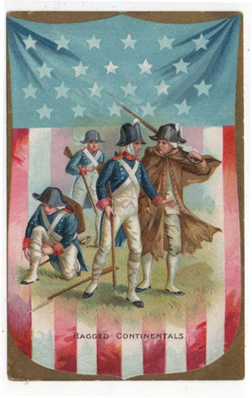 Vintage Fourth of July Greetings Post Card, Ragged Continentals, Raphael Tuck