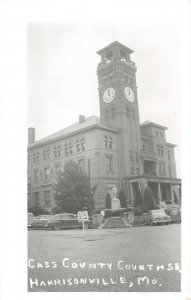 LPSS90 Harrisonville Missouri Cass County Court House Postcard RPPC