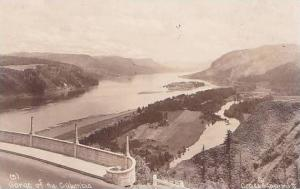 Oregon Gorge Of The Columbia Real Photo