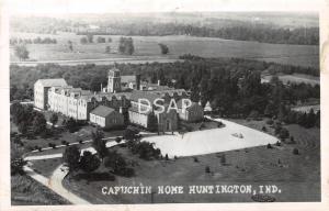 Indiana IN Postcard Real Photo RPPC 1953 HUNTINGTON Capuchin Home Birdseye