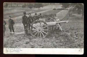 dc288 - FRANCE WW1 Artillery Crew with Big Gun
