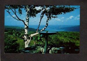NY Canandaigua Lake From Gannett Hill Finger Lakes Region New York Postcard