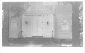 North Conway NH First Church of Christ Scientist Facade RPPC 1940s