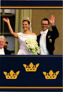 CPM AK Kronprinsessan Victoria en Prins Daniel Swedish Royalty (870939)