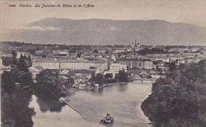Switzerland Geneve La Jonction du Rhone et de l'Arve