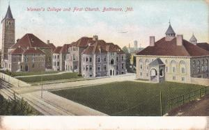 BALTIMORE, Maryland, PU-1907; Women's College And First Church