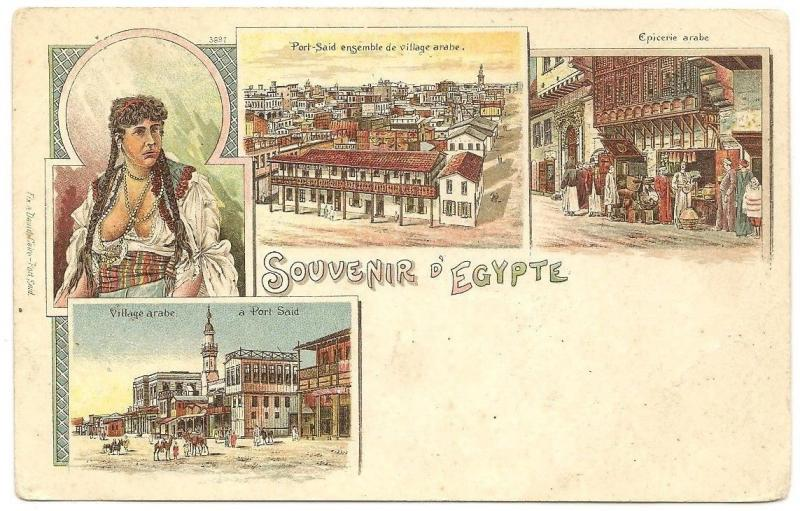 Egypt c.1900 color Souvenir d'Egypt UB postcard