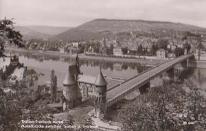 Traben Mosel German Aerial View Vintage Germany Real Photo Postcard