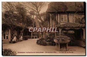 Old Postcard Dives sur Mer Hostellerie William the Conqueror Court of virgin