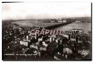 Postcard Old Bordeaux Vue Generale over the Bay