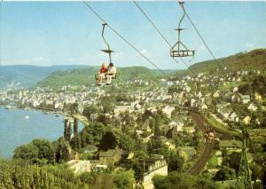 Germany, Boppard, am Rhein mit Sesselbahn, unused Postcard