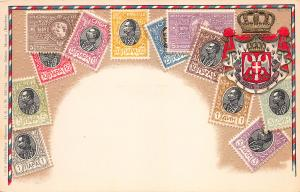 Serbia, Classic Stamps in Actual Colors, Early Embossed Postcard, Unused