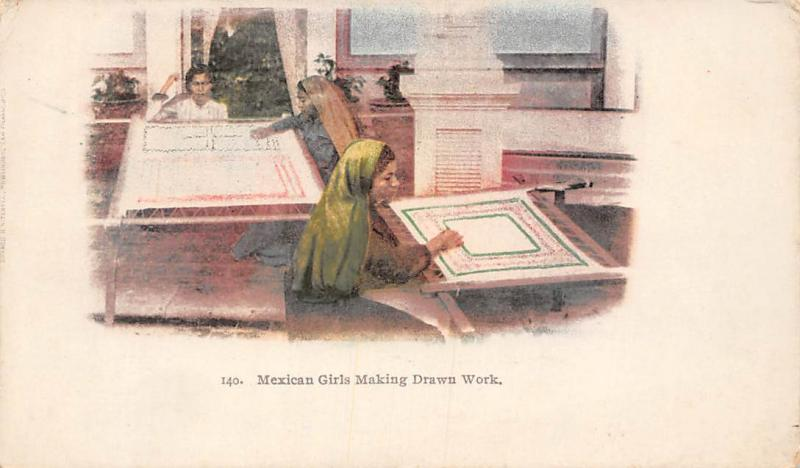 Mexican Girls Making Drawin Work, Drawing, Art of Congress 1898