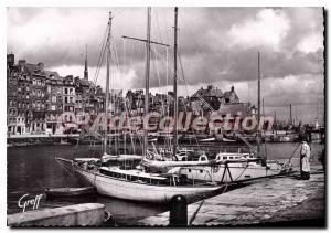 Postcard Modern Normandy Honfleur Old Basin Lieutenancy Sainte Catherine quay