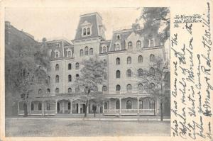 Wilke-Barre PA~Wyoming Valley Hotel~Victorian Architecture~Mansard Roof~1907 B&W
