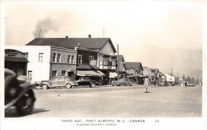 E8/ Alberni British Columbia BC Canada Postcard c1930s RPPC Third Ave Stores