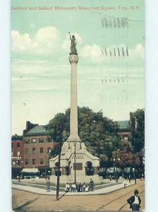 Pre-1907 very early view - SOLDIERS MONUMENT Troy New York NY ho5476