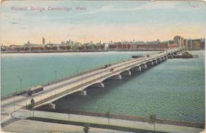 Trolley on Harvard Bridge - Cambridge MA, Massachusetts - pm 1911 - DB