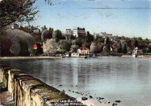 France Thonon Les Bains Quai de Ripaille Lake Partial view Postcard
