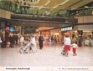 Queensgate Peterborough Dorothy Perkins Top Man Shop 1980s Precinct Postcard