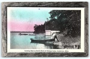 Postcard MN Lindstrom East on South Shore of Chisago Lake 1911 View R27