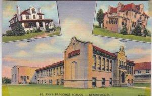 New Jersey Keansburg St Ann's Parochial School Rectory & Convent Curteich sk2610
